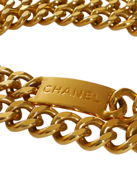 Sold - CHANEL 1980s Vintage Statement Chain Belt Size S-M-L