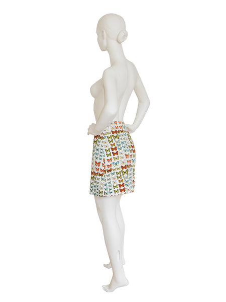 GIANNI VERSACE Couture S/S 1995 Butterfly Print Skirt Size XS