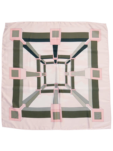 Sold - HERMÈS Vintage Silk Scarf Perspective by A.M. Cassandre 1968