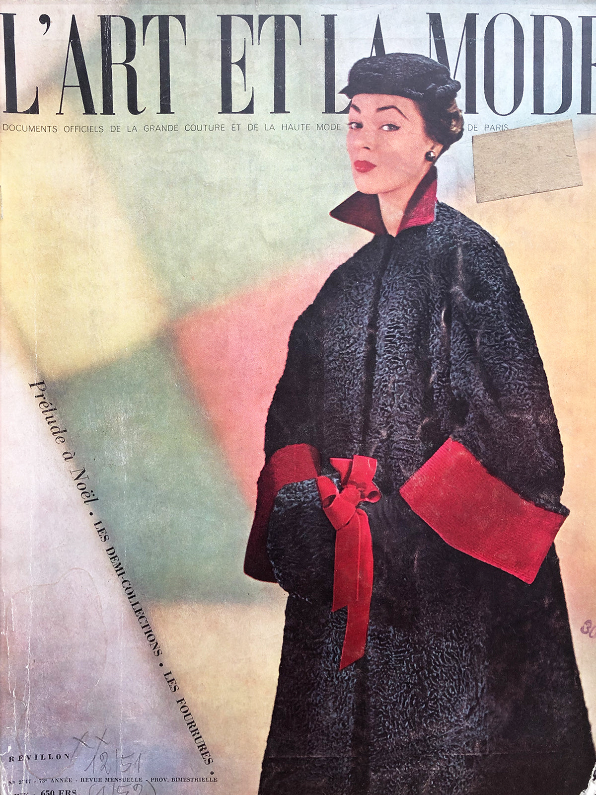 Archived - L'Art et la Mode France Dec 1951/Jan 1952