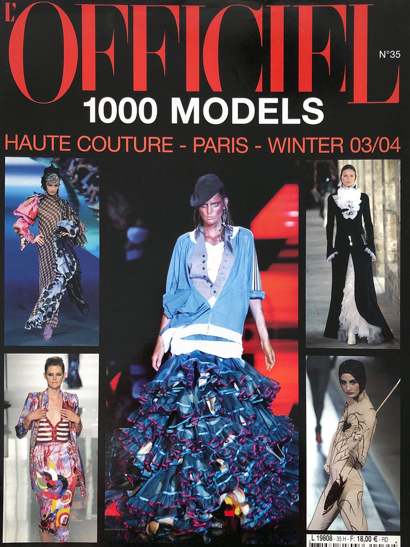 Archived - L'OFFICIEL 1000 Models N. 35 Haute Couture A/W 2003/2004 Paris