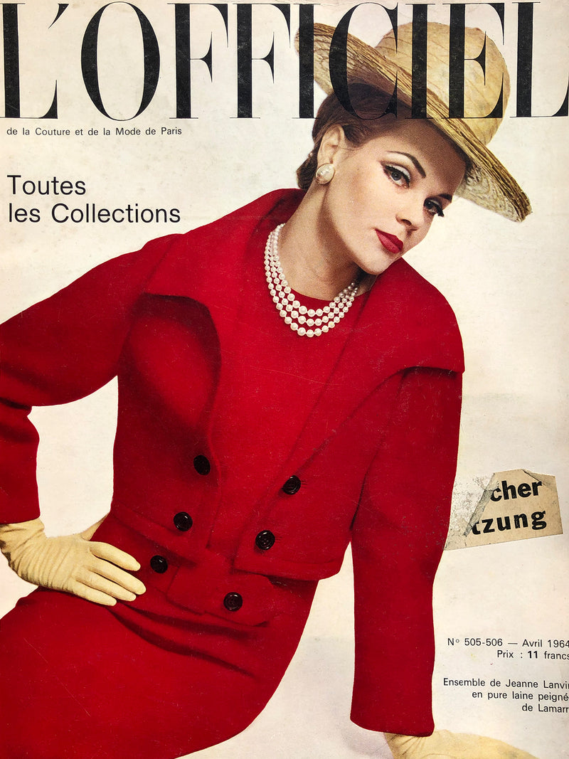 Archived - L'Officiel Paris April 1964