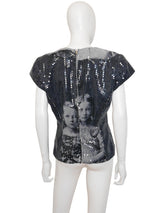 "Sold - ALEXANDER MCQUEEN Fall 1998 ""Joan"" Romanov Sequin Top Size M"