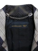 "Sold - ALEXANDER MCQUEEN Fall 2000 ""Eshu"" Tailored Jacket Size XS"