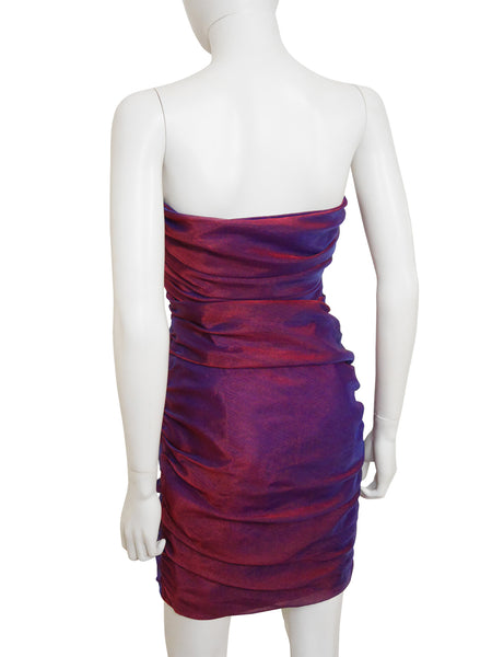 Sale - ANGELO TARLAZZI 1980s Vintage Iridescent Cocktail Dress Size XS