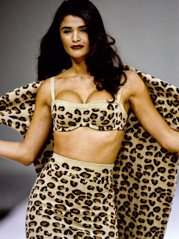 Sold - AZZEDINE ALAIA Fall 1991 Vintage Leopard Dress Size S-M