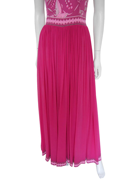 Sold - BESSI 1970s Silk Maxi Evening Gown w/ Jacket Size XS-S