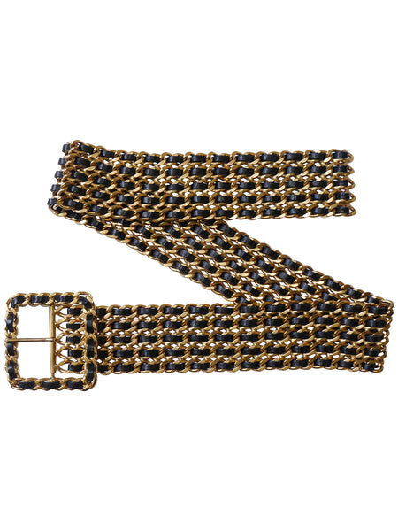 CHANEL S/S 1993 Chain Belt As Modeled By Kate Moss Size XS-S