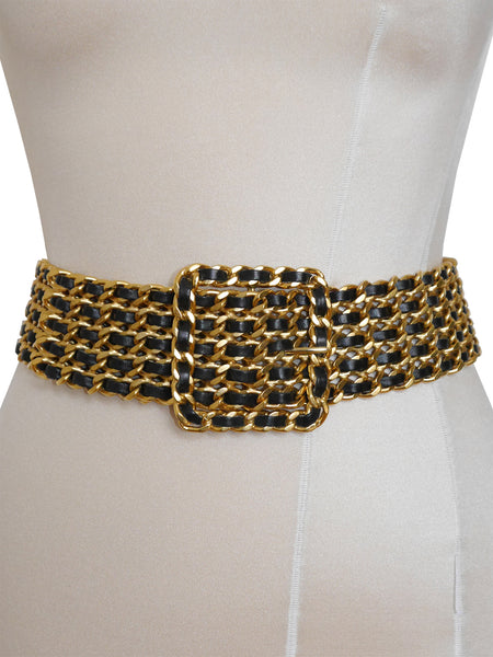 Sold - CHANEL S/S 1993 Chain Belt As Modeled By Kate Moss Size XS-S