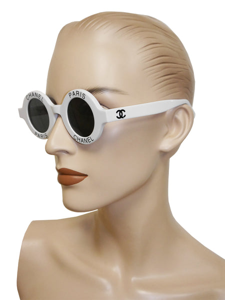 Sold - CHANEL S/S 1993 Vintage Round Logo Signature Sunglasses