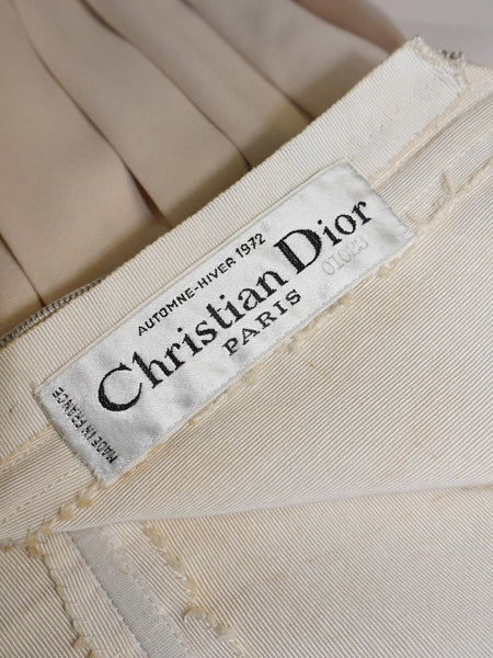 CHRISTIAN DIOR A/W 1972 Documented Haute Couture Evening Dress M