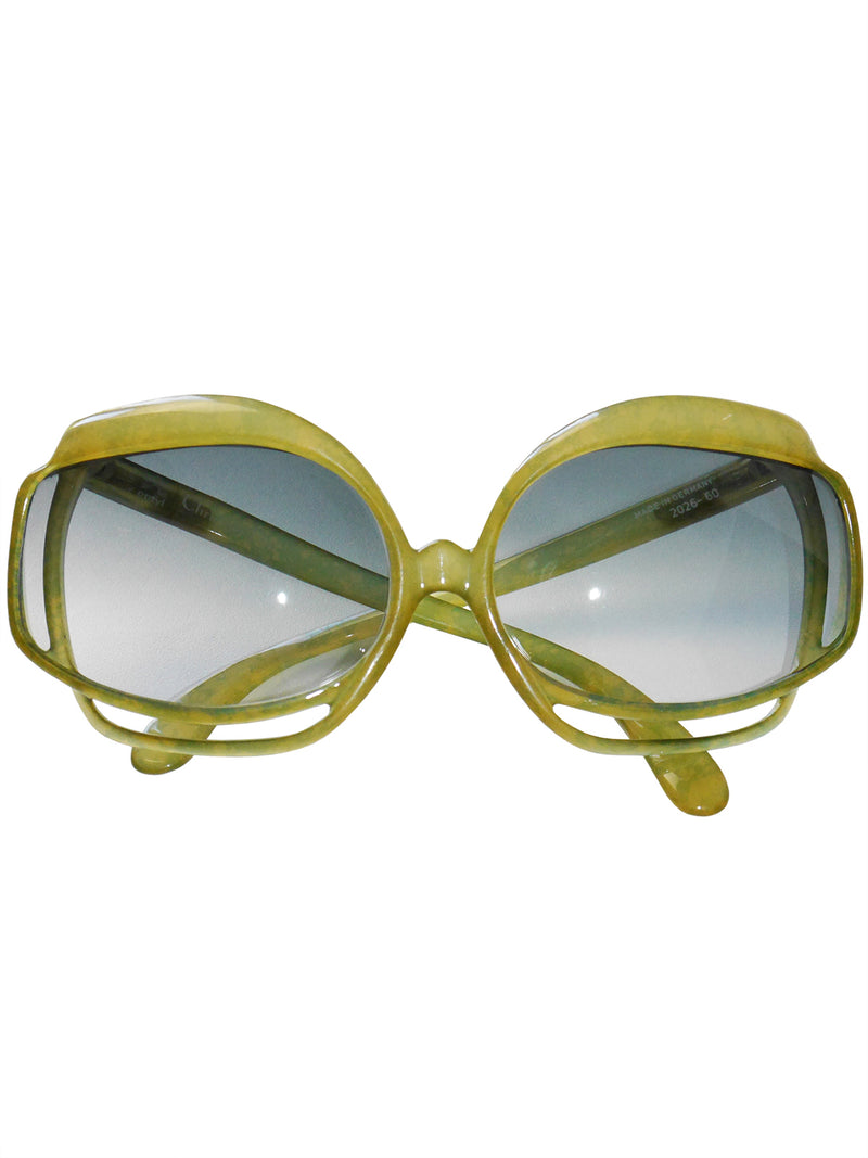 CHRISTIAN DIOR Mod. 2026-60 1970s Vintage Oversized Sunglasses
