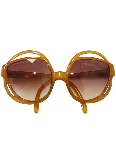 CHRISTIAN DIOR 2027-10 1970s Vintage Oversized Sunglasses