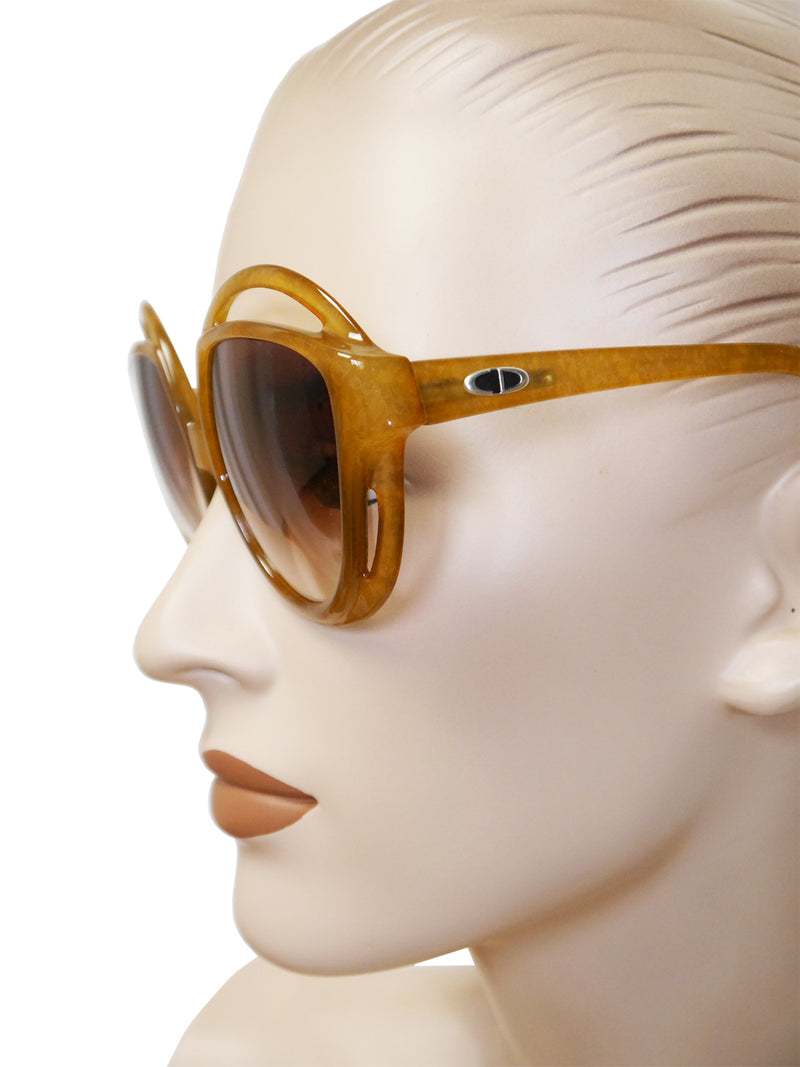 Sold - CHRISTIAN DIOR 2027-10 1970s Vintage Oversized Sunglasses