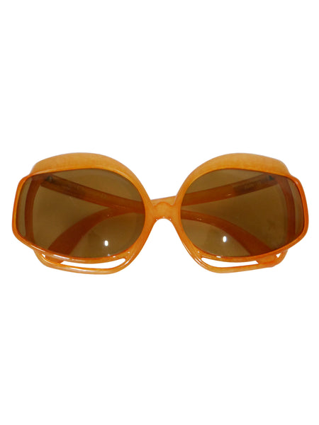 CHRISTIAN DIOR Mod. 2026-30 1970s Vintage Oversized Sunglasses
