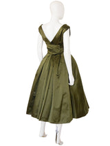 "CHRISTIAN DIOR Fall 1957 Haute Couture ""Venezuela"" Evening Dress Size XS"
