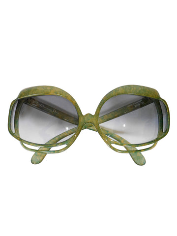 CHRISTIAN DIOR Mod. 2026-50 1970s Vintage Oversized Sunglasses