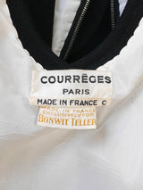 COURRÈGES Couture 1960s Vintage Black Evening Dress Size L