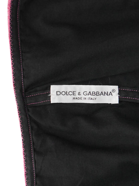 DOLCE & GABBANA S/S 1992 Pink Terry Cloth Bustier Mini Dress Size XS