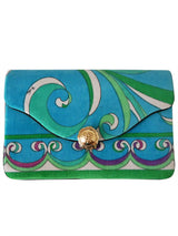 EMILIO PUCCI 1960s Vintage Velvet Clutch Evening Bag