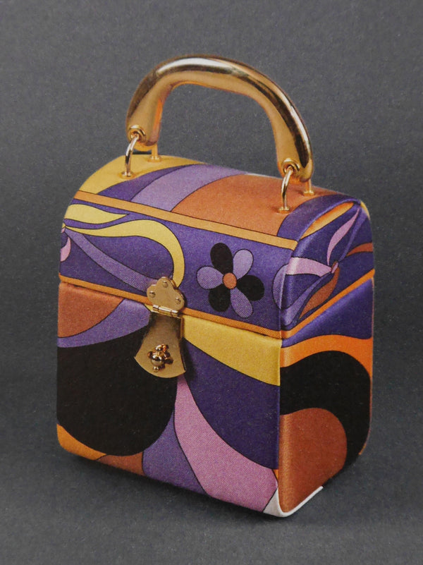 Sold - EMILIO PUCCI Documented Fiocchetti Hard Case Box Handbag