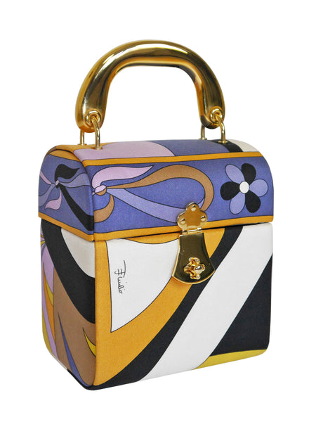 EMILIO PUCCI Documented Fiocchetti Hard Case Box Handbag