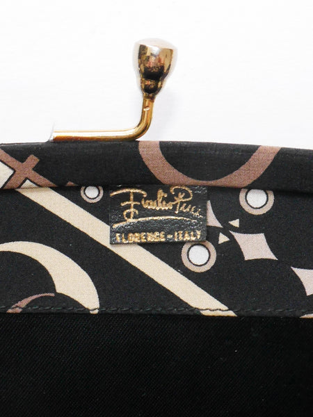 Sold - EMILIO PUCCI Large 1960s 1970s Vintage Evening Clutch Bag