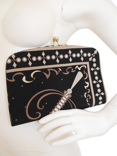 EMILIO PUCCI Large 1960s 1970s Vintage Evening Clutch Bag