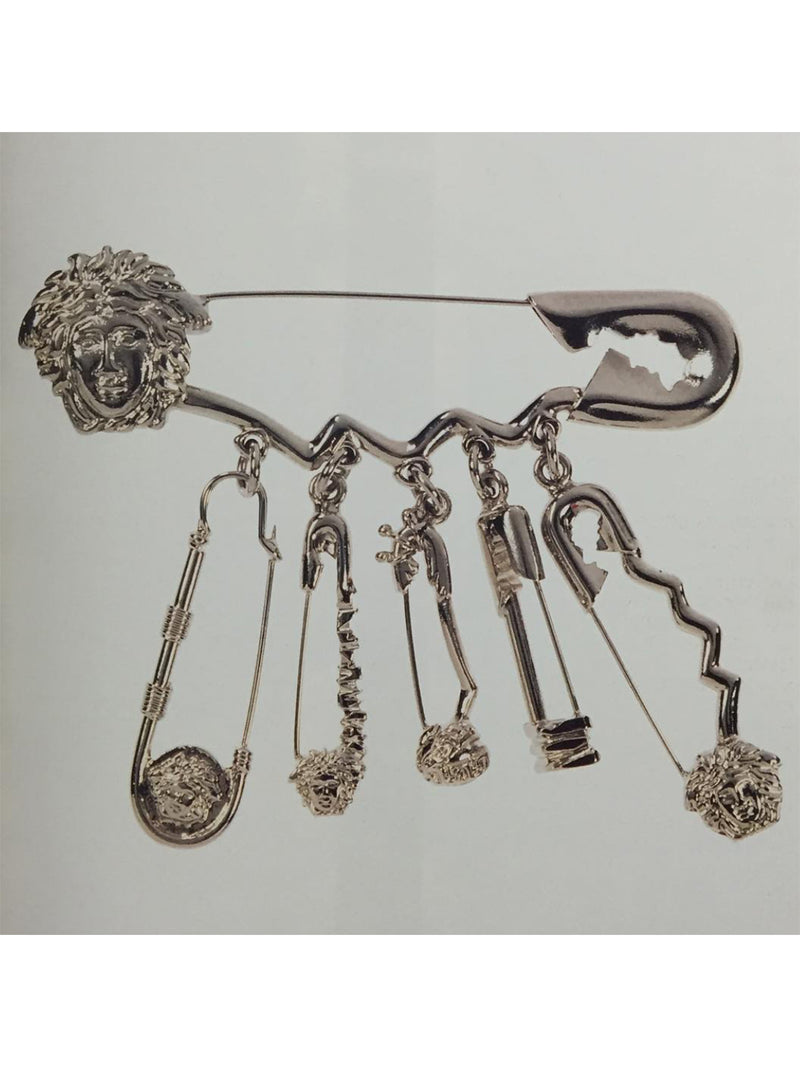 Sold - GIANNI VERSACE Spring 1994 Vintage Safety Pin Medusa Brooch