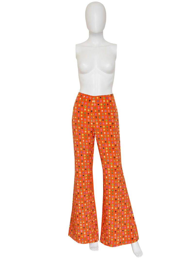 Sold - GIANNI VERSACE Couture Spring 1993 Flared Pants As Modeled By Naomi Campbell Size M