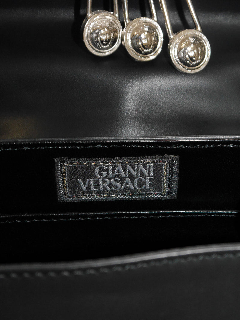 GIANNI VERSACE Couture c. 1994 Vintage Safety Pin Handbag