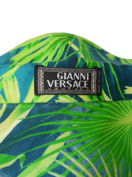 GIANNI VERSACE S/S 2000 Iconic Jungle Print Silk Blouse Size M