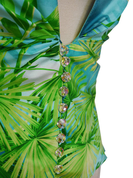 Sold - GIANNI VERSACE S/S 2000 Iconic Jungle Print Silk Blouse Size M