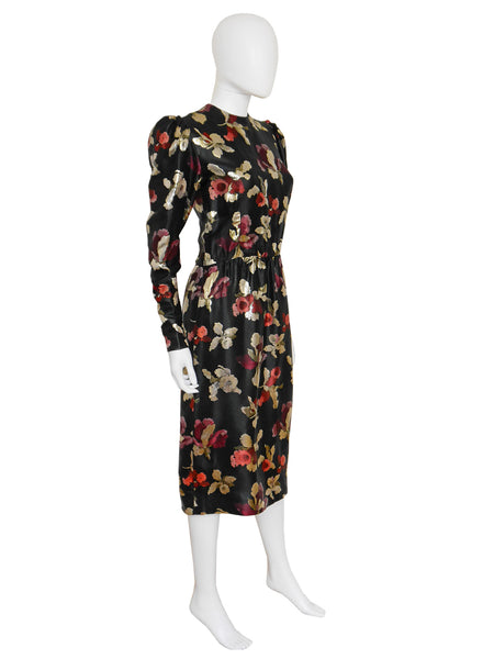 GIVENCHY Vintage Brocade Evening Cocktail Dress Size XS-S