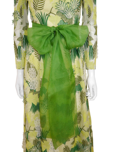 GIVENCHY 1960s Vintage Couture Evening Dress Size XXS-XS