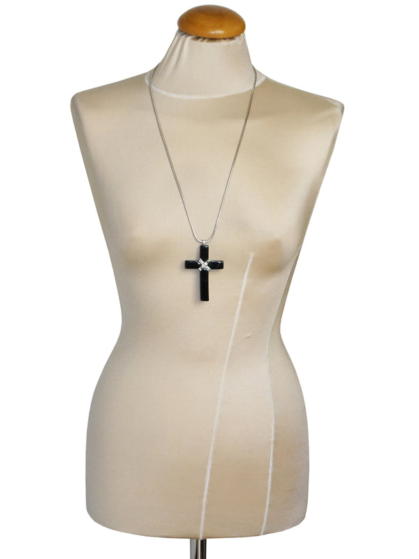 Sold - GIVENCHY 1976 Vintage Cross Pendant Necklace