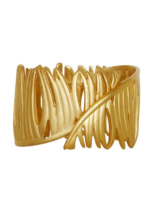 Sold - GIVENCHY Vintage Gold-Tone Cuff Bracelet
