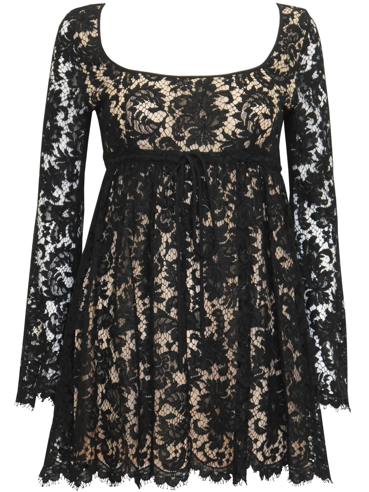 Sold - GUCCI by Tom Ford S/S 1996 Vintage Black Lace Babydoll Ultra Mini Dress Size XS