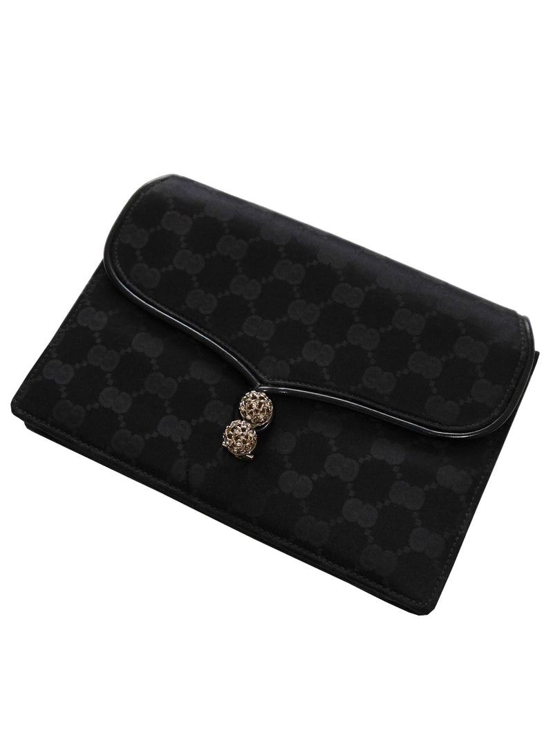 Sold - GUCCI c. 1970s Vintage Monogram Evening Shoulder Bag Or Clutch