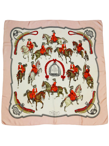 Sold - HERMÈS 1970s Vintage Silk Scarf Reprise by Philippe Ledoux