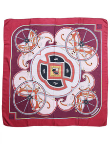 HERMÈS Vintage Silk Scarf 1978 Washington's Carriage by Caty Latham