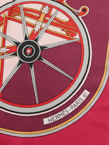 Sold - HERMÈS Vintage Silk Scarf 1978 Washington's Carriage by Caty Latham