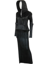 ISSEY MIYAKE Fall 1989 Vintage Pleated Suit w/ Large Hood Size M