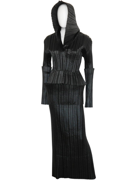 ISSEY MIYAKE F/W 1989/90 Vintage Pleated Suit w/ Large Hood Size M