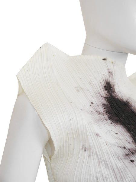 Sold - PLEATS PLEASE by ISSEY MIYAKE Guest Artist Series No. 4 Cai Guo-Qiang Gunpowder Top 1998