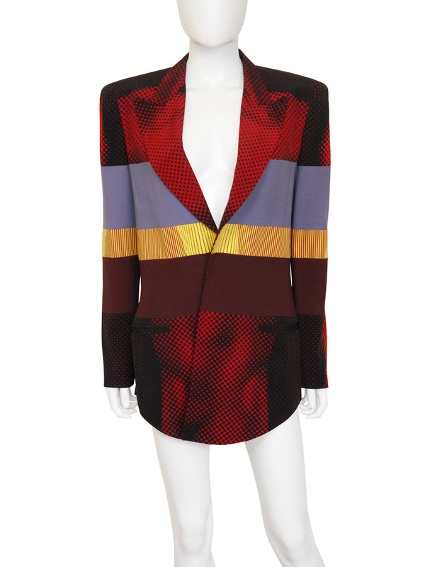 Sold - JEAN PAUL GAULTIER S/S 1996 Cyberbaba Body Illusion Jacket Size L