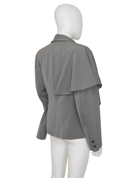 Sold - JOHN GALLIANO London 1988 Hairclips Collection Asymmetrical Jacket Size S