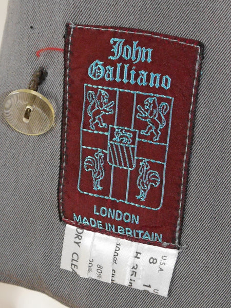 JOHN GALLIANO 1988 Hairclips Collection Asymmetrical Jacket Size S