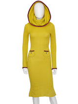 JOHN GALLIANO Fall 1999 Vintage Knit Dress w/ Oversized Collar Size S