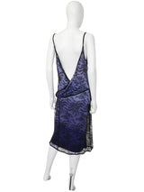 JOHN GALLIANO Fall 1998 Vintage Backless Ombré Lace Evening Dress Size M